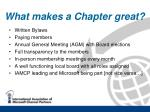 what makes a chapter great