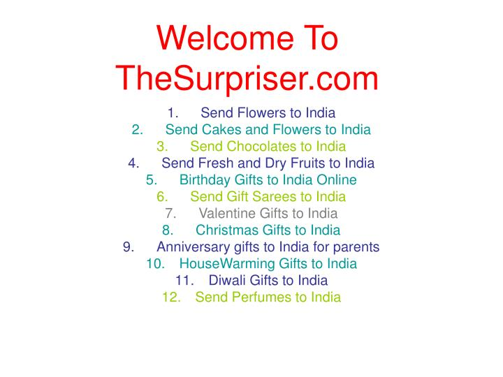 welcome to thesurpriser com n.