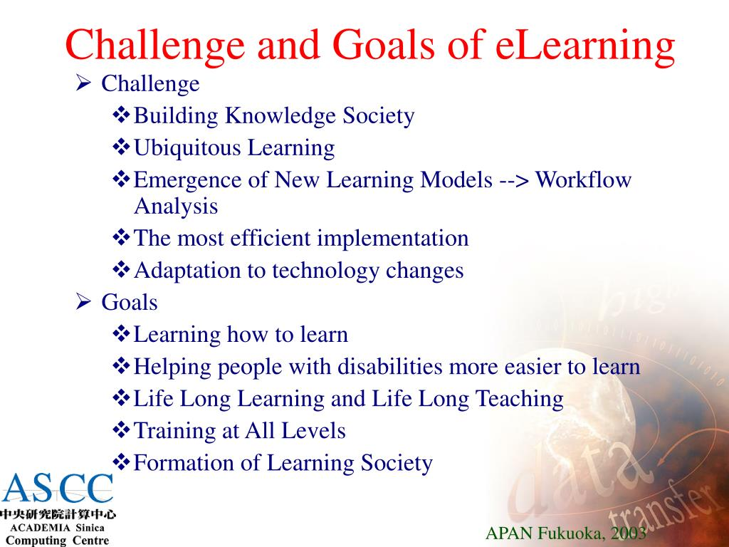 Challenge and Goals of eLearning