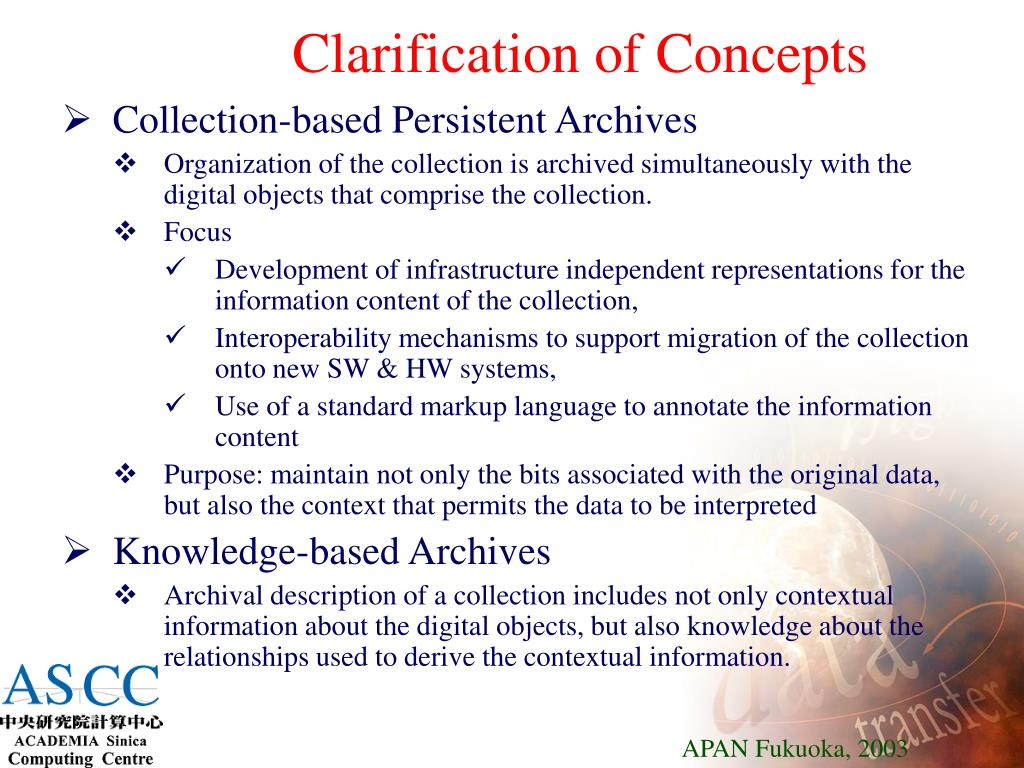Clarification of Concepts