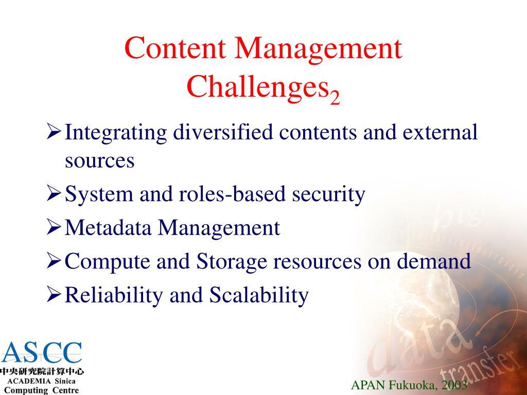 Content Management Challenges