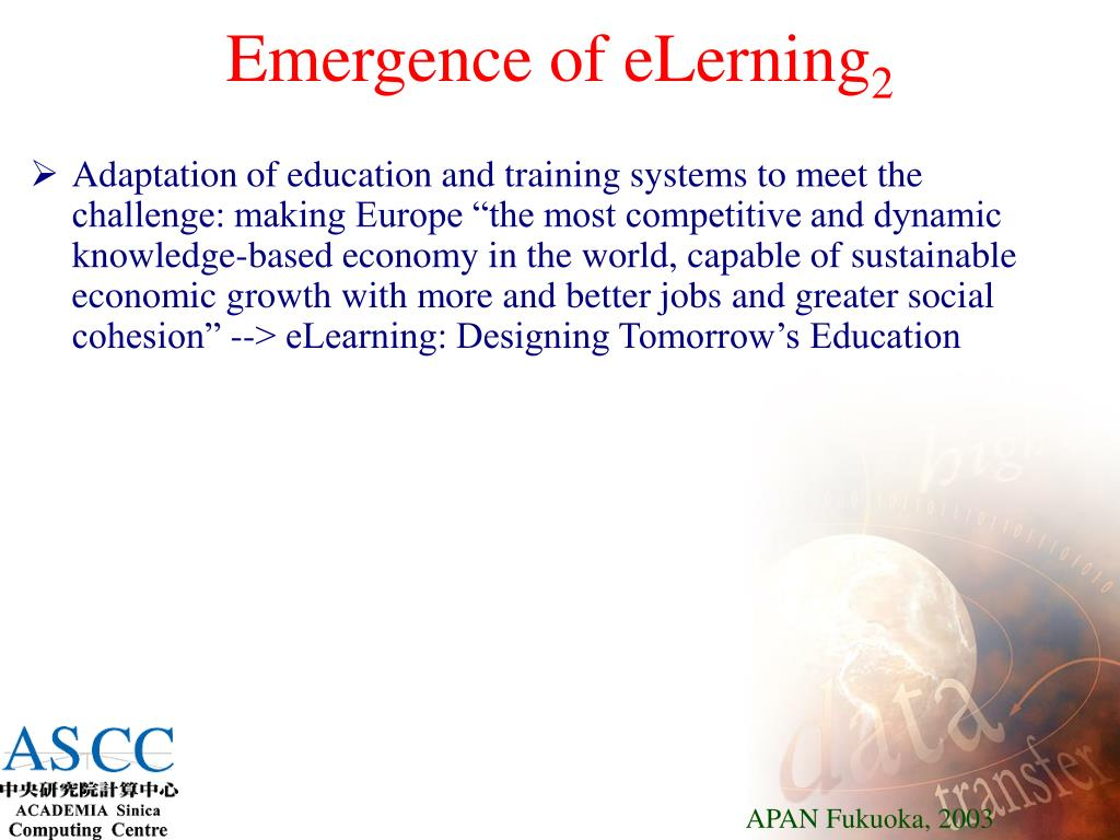 Emergence of eLerning