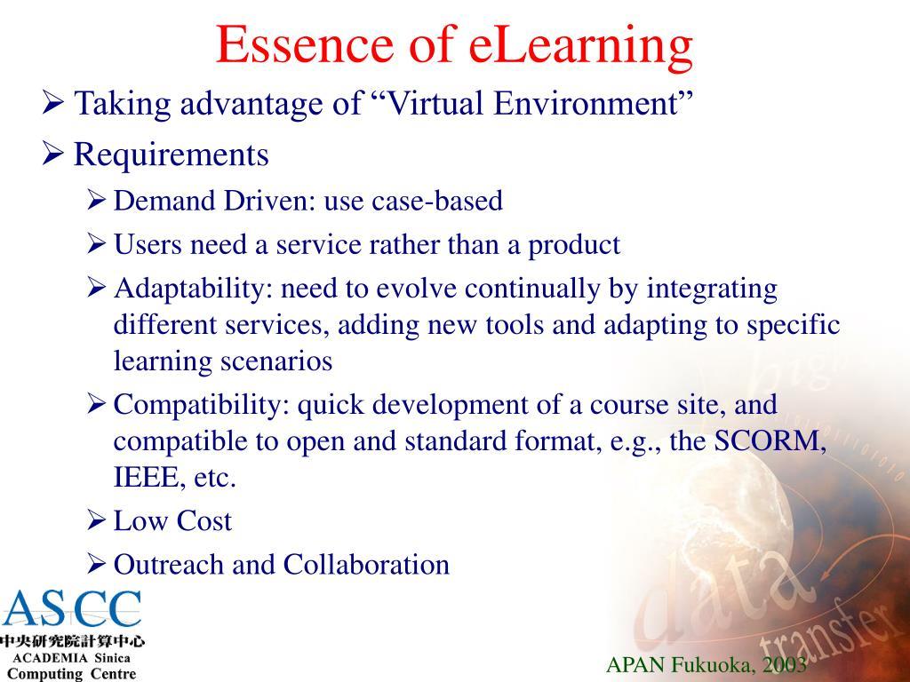Essence of eLearning