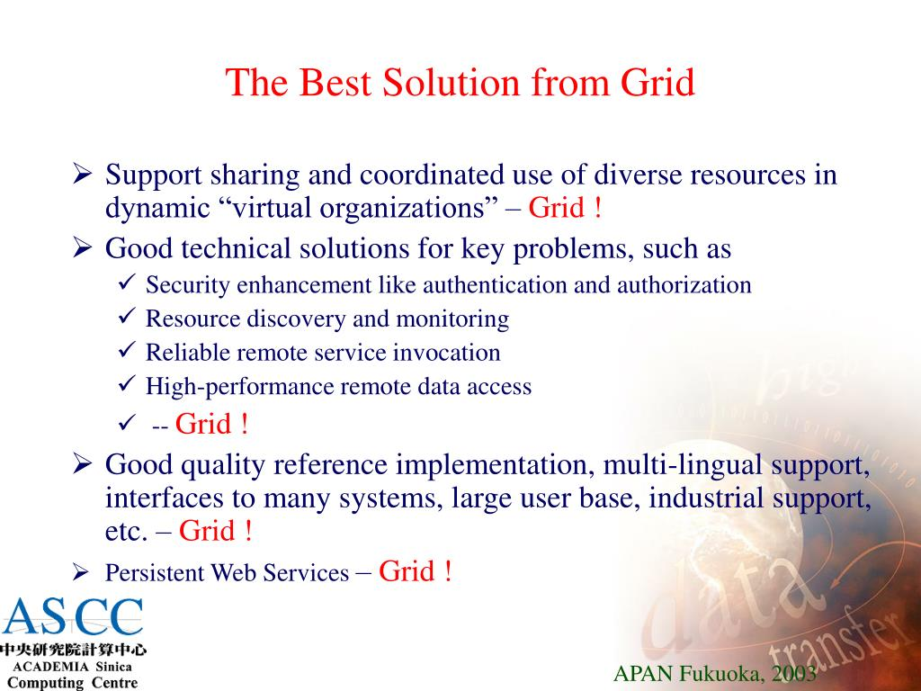 The Best Solution from Grid