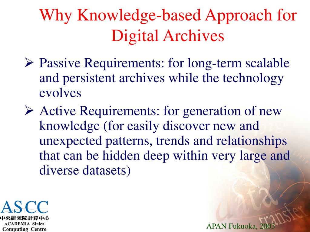Why Knowledge-based Approach for Digital Archives