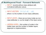 a multilayered feed forward network