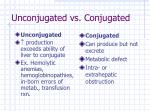unconjugated vs conjugated