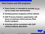 plant centric and sap programs