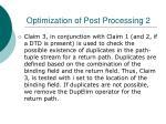 optimization of post processing 2