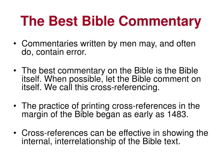 The best bible commentary2