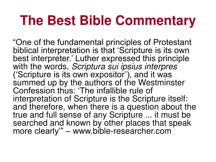The best bible commentary3