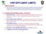 vgp effluent limits