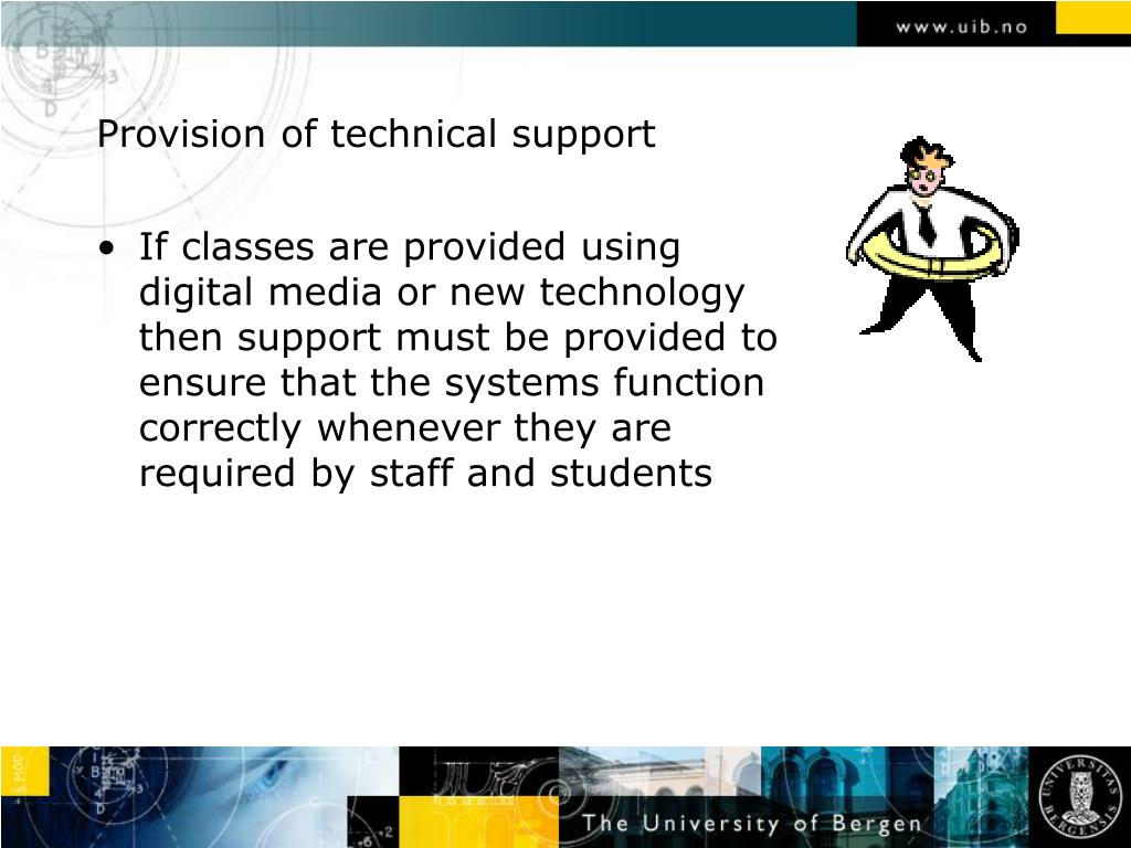 Provision of technical support