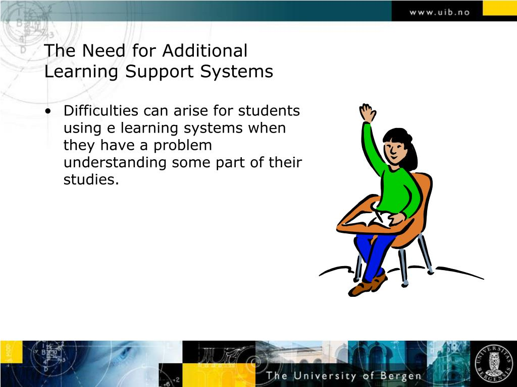 The Need for Additional Learning Support Systems
