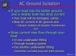 ac ground isolation
