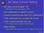 dc stray current testing
