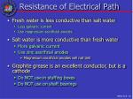 resistance of electrical path