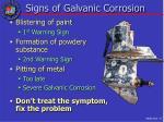 signs of galvanic corrosion