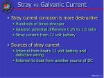 stray vs galvanic current