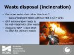 waste disposal incineration