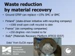 waste reduction by material recovery14