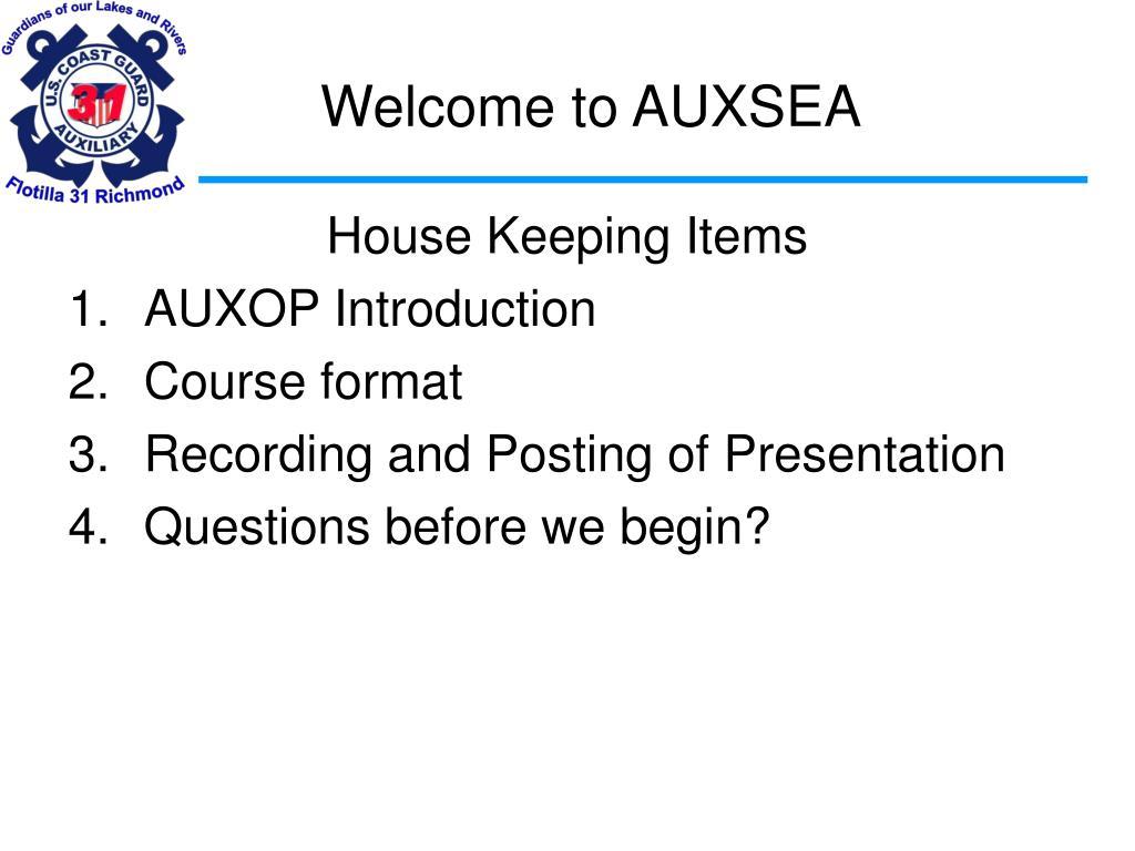 welcome to auxsea l.