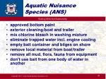 aquatic nuisance species ans2