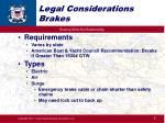 legal considerations brakes