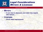 legal considerations mirrors licenses