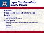 legal considerations safety chains