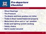 pre departure checklist1