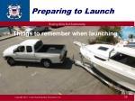 preparing to launch