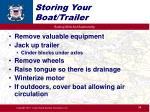 storing your boat trailer