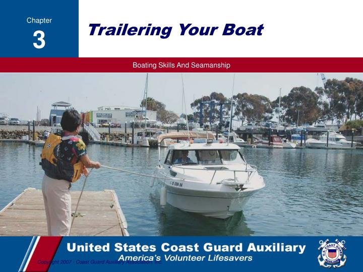 trailering your boat n.