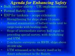 agenda for enhancing safety