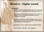 bloom s higher levels14