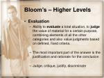 bloom s higher levels16