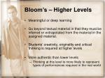 bloom s higher levels17