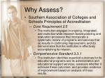 why assess