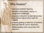 why assess28