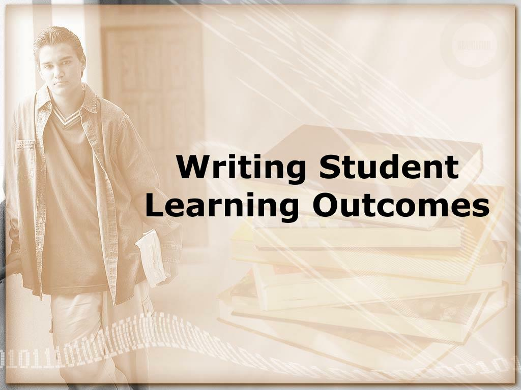 writing student learning outcomes l.