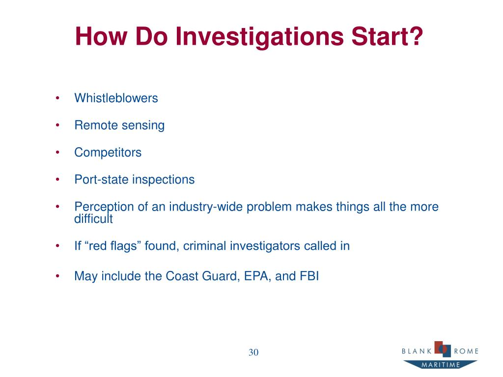 How Do Investigations Start?