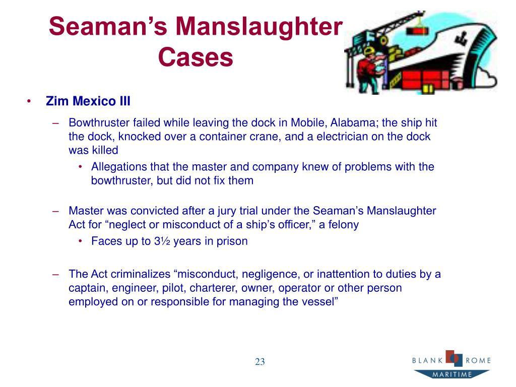 Seaman's Manslaughter
