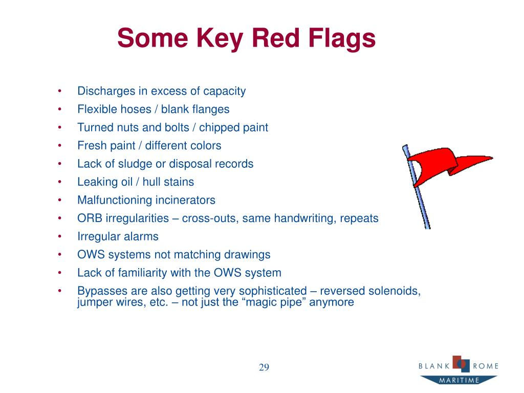 Some Key Red Flags