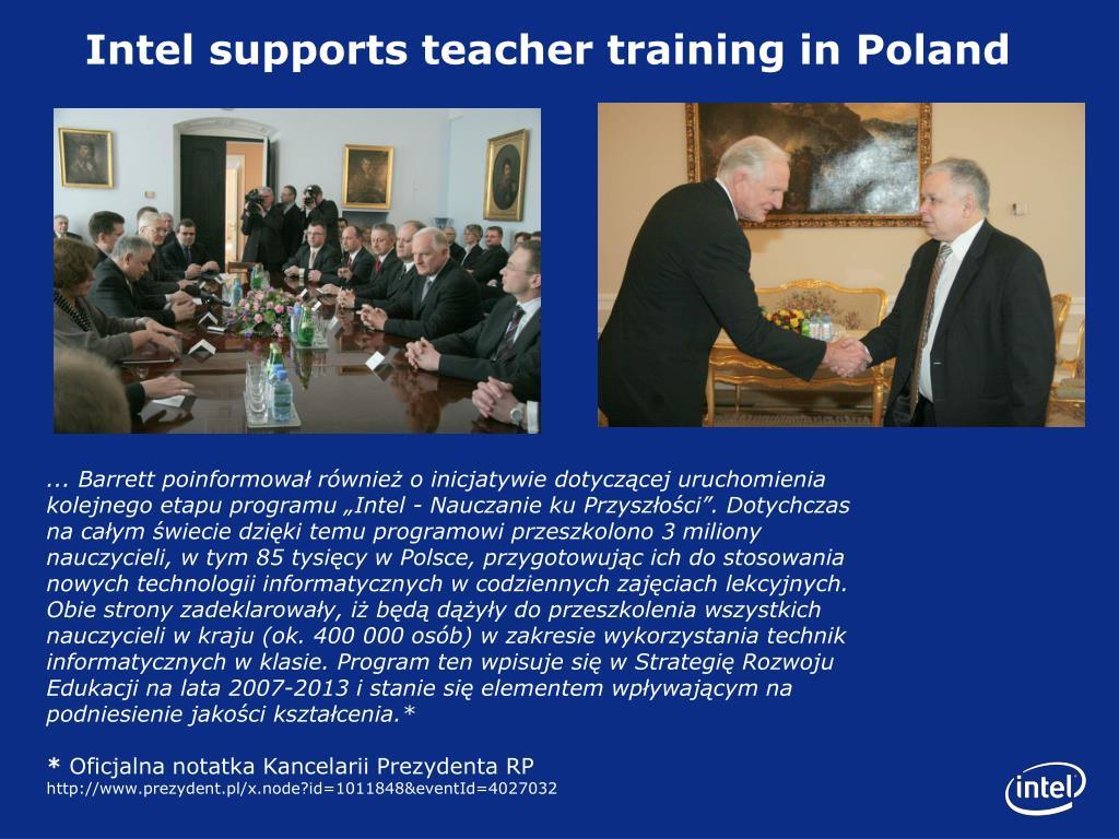 Intel supports teacher training in Poland