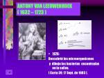 antony van leeuwenhoek 1632 1723