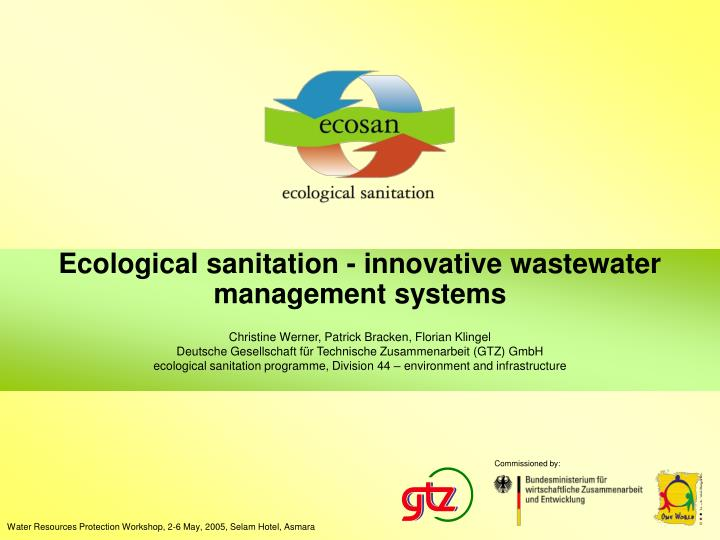 ecological sanitation innovative wastewater management systems n.
