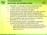 world water and sanitation crises
