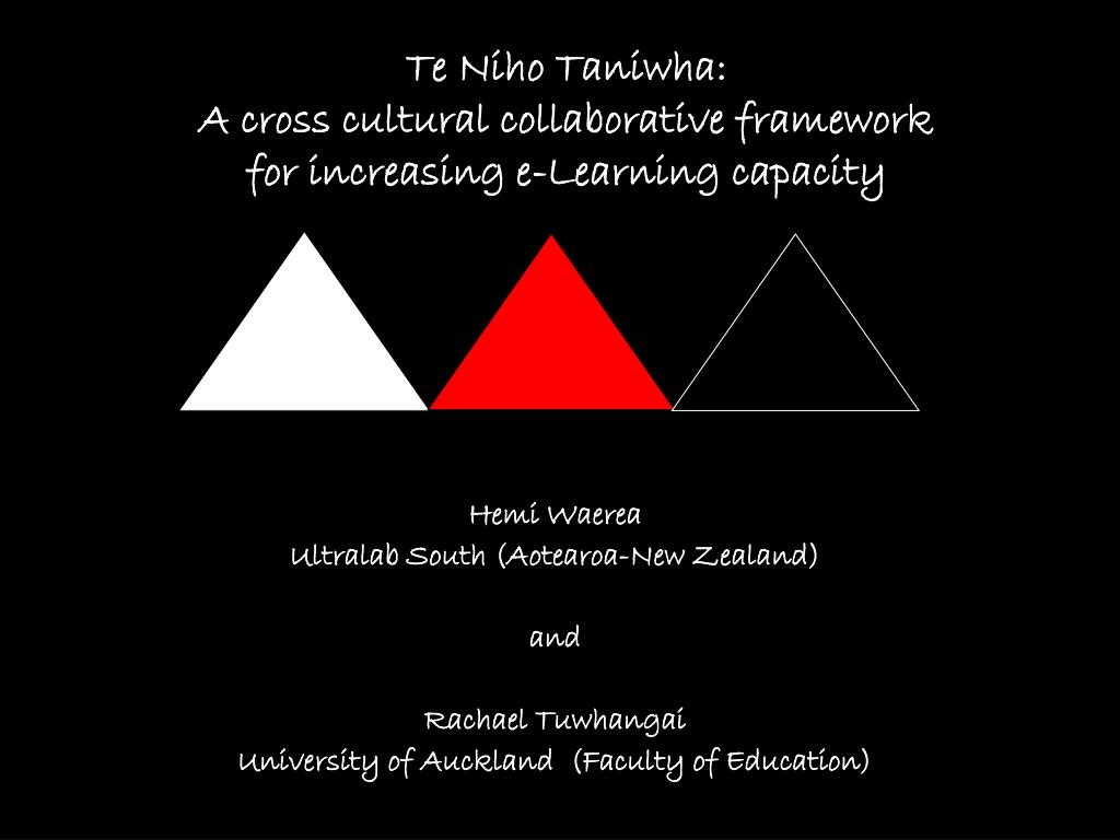 te niho taniwha a cross cultural collaborative framework for increasing e learning capacity l.