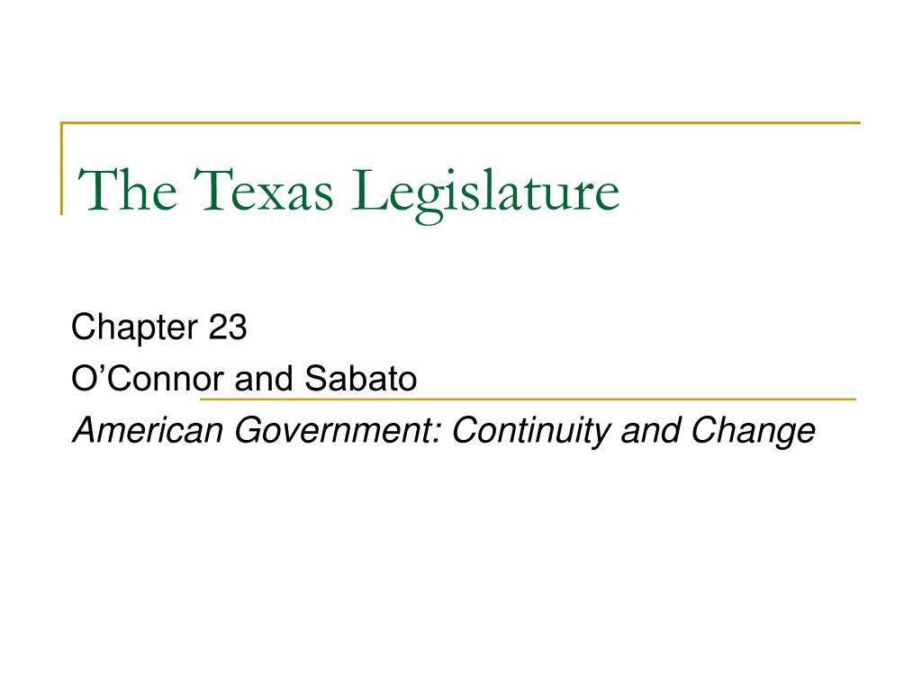 the texas legislature l.
